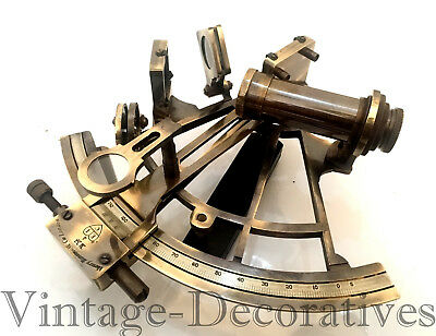 Antique Finish Brass Nautical Vintage Sextant Maritime Table Top Working Sextant