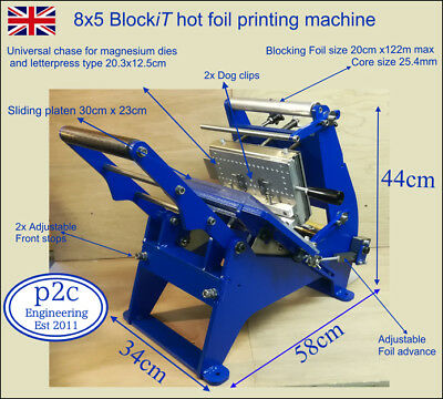 8x5 hot foil blocking machine,Letterpress type,Magnesium & Brass printing plates