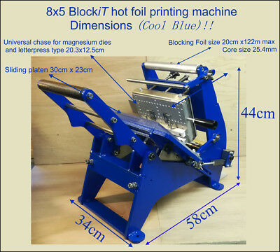 8x5 hot foil printing machine,Letterpress type,Magnesium & Brass printing plates