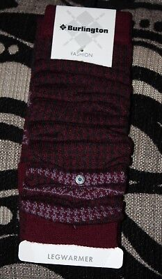 BNIP Burlington By Falke Wool Rich Fashion Legwarmers  One Size