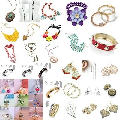 Lot 25 x Assorted Costume Jewellery Necklaces Bracelets Navel Earrings Wholesale
