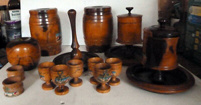 A Collection Of Lignum Vitae Treen