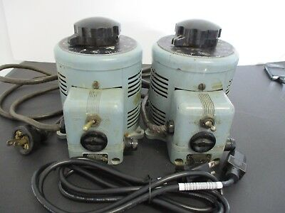 2 Powerstat Model 116 1KVA 0-140V Variable Transformer by Superior Electric