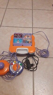vtech smile konsole +4 spiele + kabel adapter
