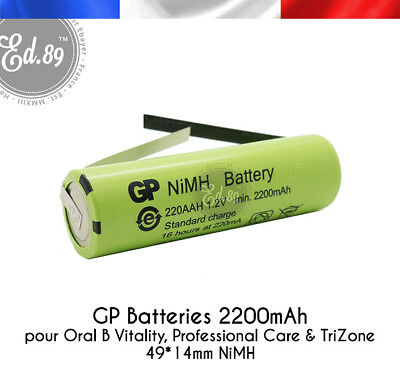 Batterie remplacement GP Batteries 2200mAh Oral B Professional Care 3754 3756