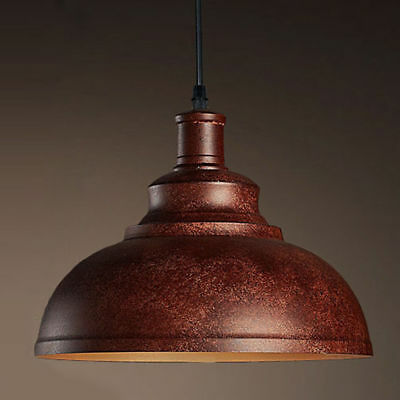 Vintage Retro Industrial Pendant Light Antique Copper Shade Barn Ceiling Light