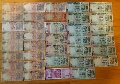 India 4140 rupees 36 pieces banknote lot