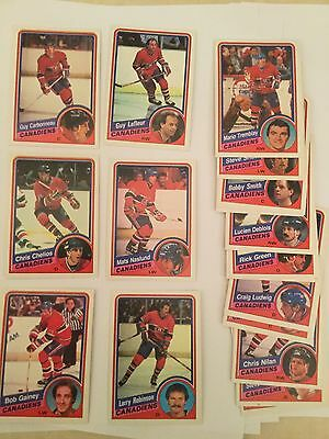 1984 - 85 O Pee Chee NHL Hockey Cards - Montreal Canadiens - Chelios - Mint (18)