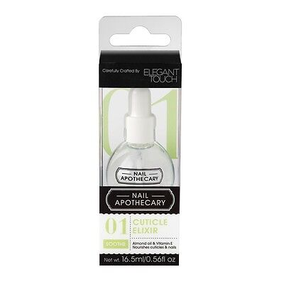 Nail Apothecary 01 Cuticle Elixir Nail Treatment by Elegant Touch 16.5ml NEW