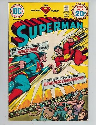 Superman 276 vs Captain Marvel as Captain Thunder (SHAZAM!)   VG/Fine 1974