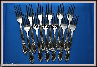 Dinner Forks ~12 pieces ~ SS ~ Regency Pattern ~ New In Box!  Made In Japan!