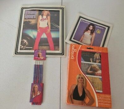 Britney Spears Memorabilias Valentines Cards Pencils Lot Baby One more time Rare