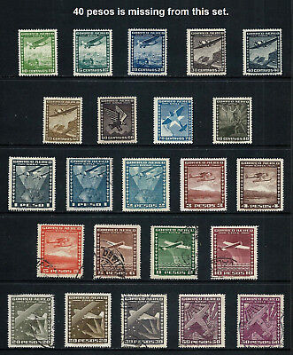 CHILE _ 1934 'AIR' 23 _ mh-used ____(508)