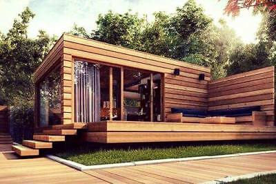 NO RESERVE! Prefab Tiny House Studio Home Hunting Cabin Guest House with Terrace