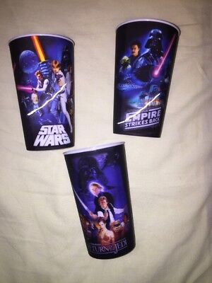 STAR WARS cups Empire Strikes Back Return Of The Jedi Darth Vader Skywalker Leia