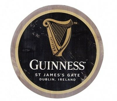 Guinness HARP Logo Wooden Bottle Top Sign Ireland Irish Beer Wood Wall Art NEW