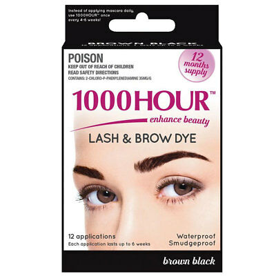 * 1000 Hour Lash And Brow Dye 12 Applications Brown Black 12 Months Supply