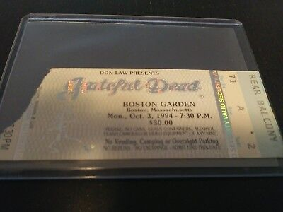 Grateful Dead Mail Order Ticket Stub, Boston Garden, 10/03/1994