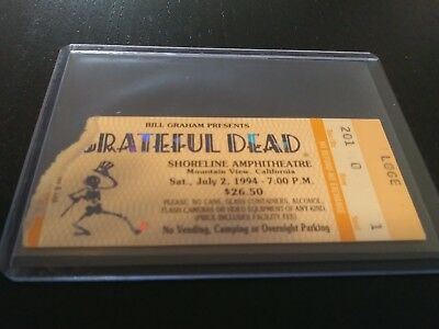 Grateful Dead Ticket, Mail Order Stub, Shoreline, 07/02/1994
