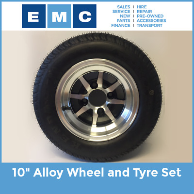 """Wheel and Tyre Set, 10"""" Alloy for All Golf Carts"""