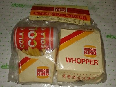 Vintage 1988 Burger King Play Food Set Nip Cheeseburger Whopper Fries Soda