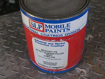One NOS Gallon Can MOPOXY FS Epoxy Sanding Filler, Gray (#41-BH-23A)