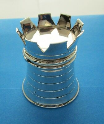 English sterling silver Castle shaped Ring Box