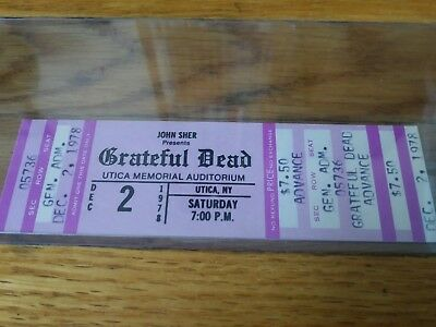Grateful Dead, 1978, Ticket, Vintage, Rare, Unused Mail Order