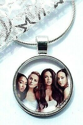 LITTLE MIX SINGER NECKLACE DANCE POP MUSIC GIFT BOXED 22 INCH SILVER CHAIN PARTY