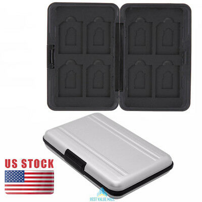 Micro Card Storage Holder Memory Card Case Protector Aluminum Material USA