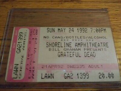 Grateful Dead Ticket Stub, 05/24/1992, Shoreline Amp