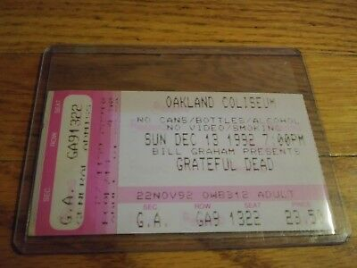 Grateful Dead Ticket Stub, 12/13/1992, Oakland Coliseum, California