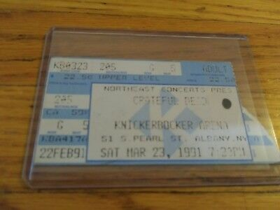 Gratef Dead Ticket Stub, 03/23/1991, Knickerbocker Arena