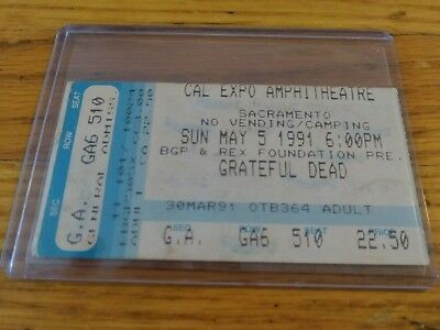 Grateful Dead Ticket Stub, 05/05/1991, Cal Expo, Sacramento, CA