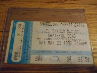 Grateful Dead Ticket Stub, 05/23/1992, Shoreline Amp, California