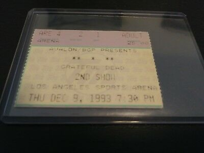 Grateful Dead Ticket Stub, L.A. Arena, 12/09/1993