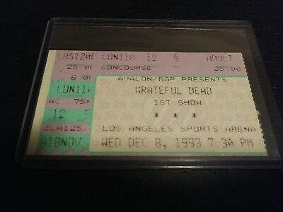 Grateful Dead Ticket Stub, LA Sports Arena, 12/08/1993