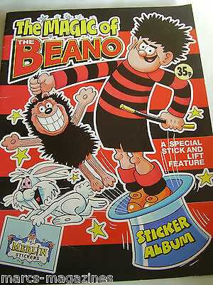 Rare Merlin The Magic Of The Beano 1989 Sticker Album Book Empty Unused