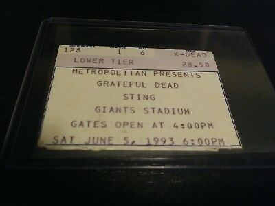 Grateful Dead Ticket Stub, Giants Stadium, 06/05/1993