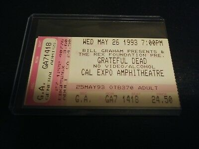 Grateful Dead Ticket Stub, Cal Expo, 05/26/1993
