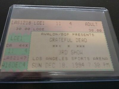 Grateful Dead Ticket Stub, L.A. Sports Arena, 12/18/1994