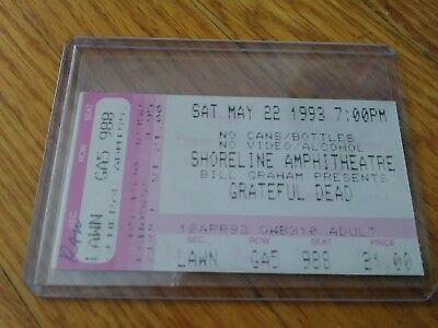 Grateful Dead Ticket, Shoreline, 05/22/1993