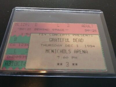 Grateful Dead Ticket Stub, McNichols Arena, 12/01/1994