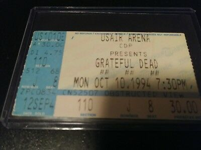 Grateful Dead Ticket Stub, US Air Arena, 10/10/1994