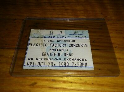 Grateful Dead, Concert Ticket Stub, 10/20/1989, The Spectrum, Philadelphia