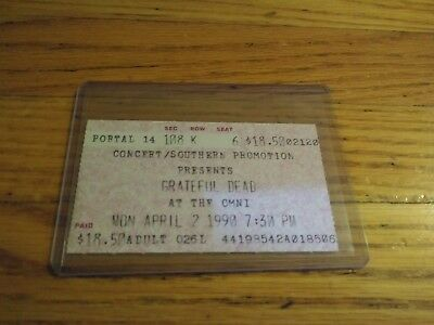 Grateful Dead, Ticket, Omni, 04/02/1990,