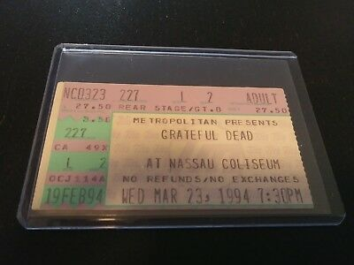 Grateful Dead Ticket Stub, Nassau Coliseum, 03/23/1994