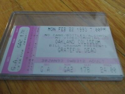 Grateful Dead Ticket, Oakland Coliseum, 02/22/1993