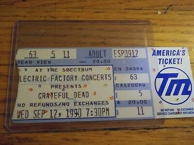 Grateful Dead, Unused Ticket, The Spectrum,  09/12/1990,