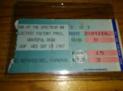 Grateful Dead, Concert Ticket Stub, 09/23/1987, Spectrum, Philadelphia